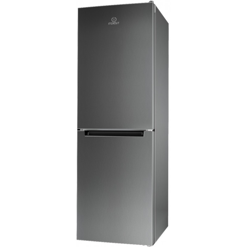 Indesit LI70 FF1 X freestanding 270L A+ Stainless steel fridge-freezer